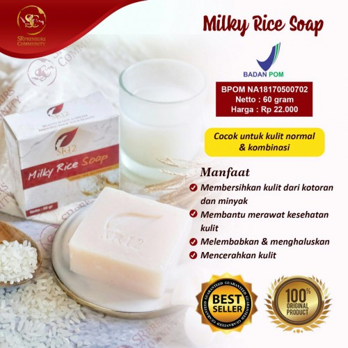 MILKY RICE HERBAL SOAP